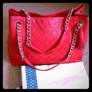 Tory Burch large chain tote !